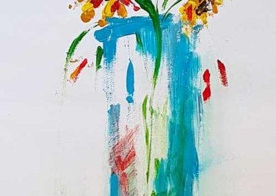 Un gesto e tre fiori