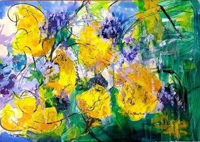 Glicine e fiori gialli
